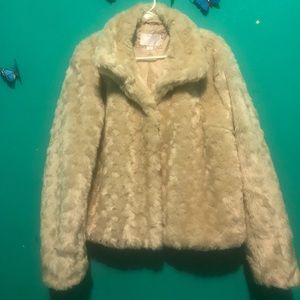 Xhilaration Faux Fur Coat - Beige